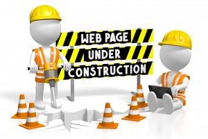 3D webpage under construction